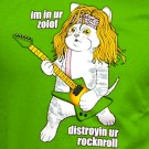 Zolof The Rock And Roll Destroyer: LOL Cat T-shirt